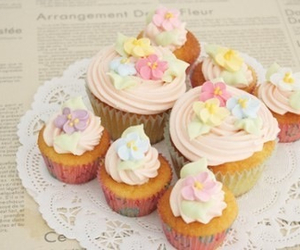 cup cake, pink, and soft image