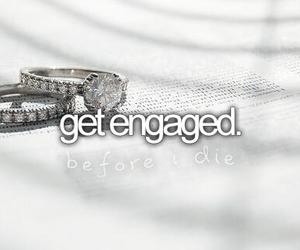 before i die, engaged, and bucket list image