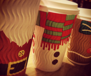 christmas, costa, and cups image