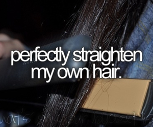 hair, straighten, and before i die image