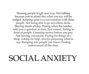 depression, quotes, and social anciety image