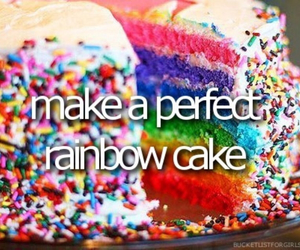 cake, rainbow, and before i die image