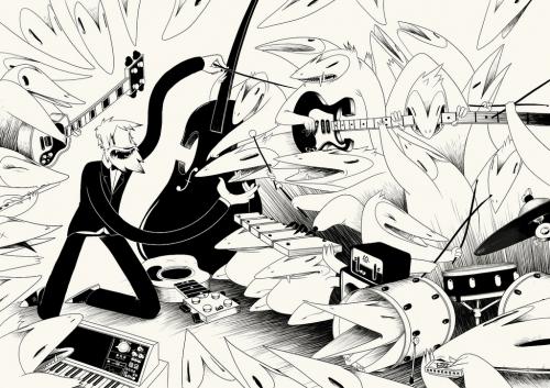 black & white, illustration, and Mc bess image