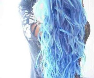 blue, pretty, and curly image