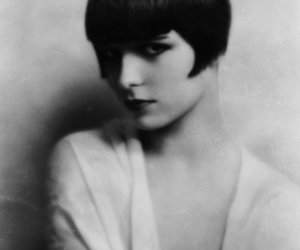 louise brooks and black and white image