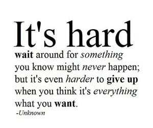 hard, quote, and give up image