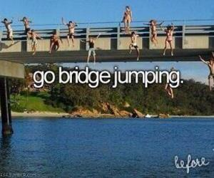 bridge, fun, and jump image