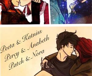 percy jackson, peeta mellark, and katniss everdeen image