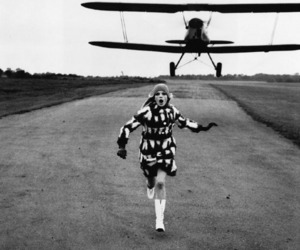 black and white, fashion, and Flying image