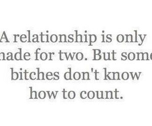 bitch, quote, and Relationship image