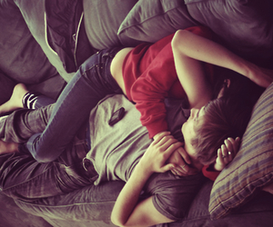 couple, cuddle, and kiss image