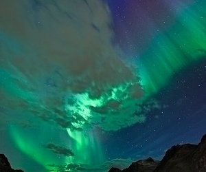 nature, northern lights, and sky image