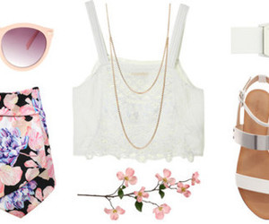 flores, outfit, and gafas image