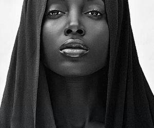beautiful, woman, and black image