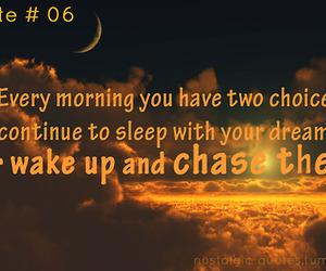 dreams, wake up, and life quotes image