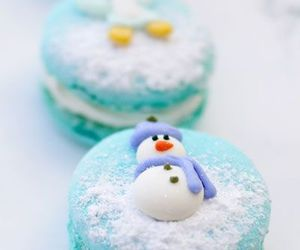 chef, christmas, and macaroon image