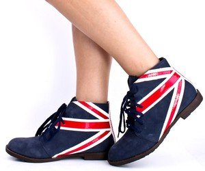 uk, leather booties, and lace up booties image