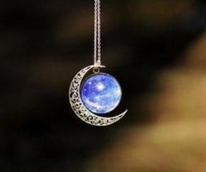 charm, necklace, and moon image