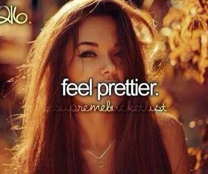 girl, pretty, and feel image