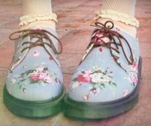creepers, floral, and shoes image