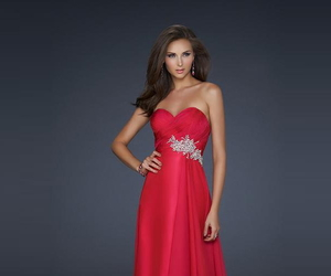evening dress, red prom dress, and 2014 dress image