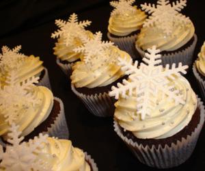 cupcake, christmas, and snowflake image