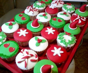 christmas, cupcakes, and christmas 2014 image
