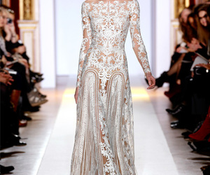 Couture, renda, and wedding image