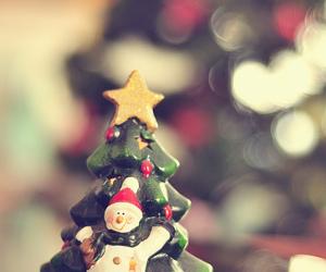 snowman, christmas, and tree image