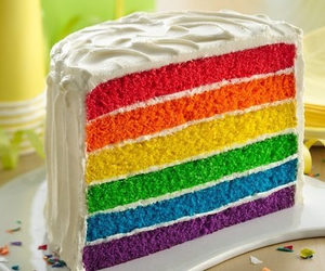 cake, delicious, and colors image