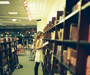girl and library image