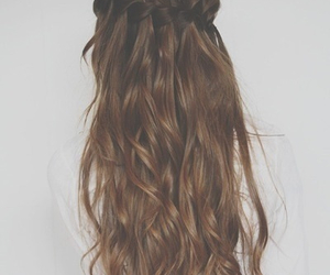 brunette, girly, and hairstyle image