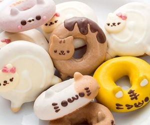 donuts, food, and cat image