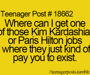 teenager post, kim kardashian, and funny image