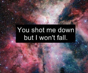 quote, fall, and down image
