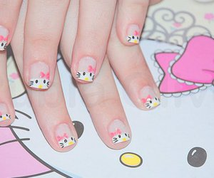 nails, hello kitty, and cute image