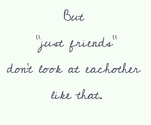 love, just friends, and quote image