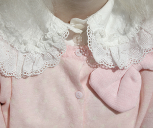 collar, embroidery, and vintage image