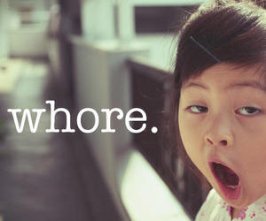 whore, funny, and bitch image