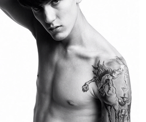 black and white, boy, and sexy image