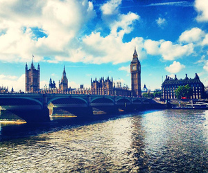 london, Big Ben, and clouds image