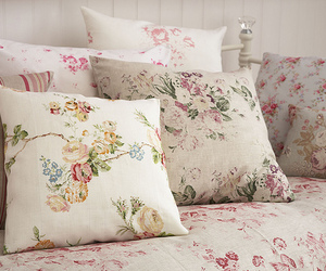 flowers, bed, and pillow image