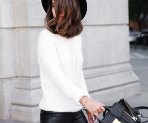 bag, hair, and outfit image