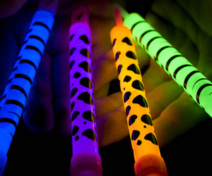 neon, blue, and colors image