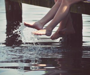 water, summer, and couple image