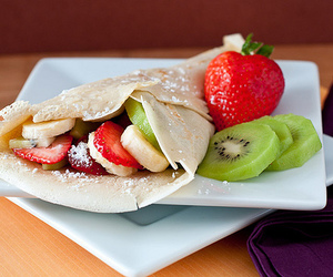 delicious, FRUiTS, and pancakes image