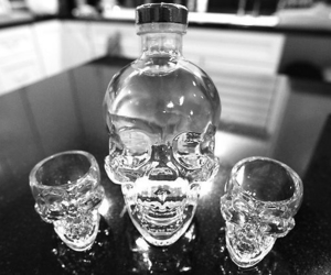 skull, drink, and alcohol image