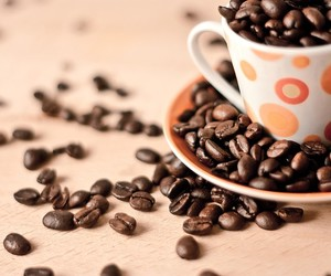 coffee, coffee beans, and cup of coffee image