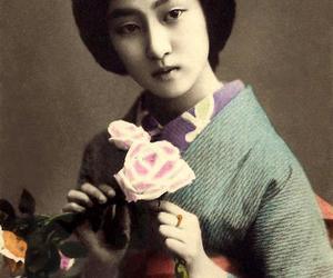 geisha, vintage beauties, and oriental doves image