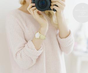 fashion, pink, and camera image